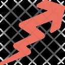 Rising Growth Zigzag Icon