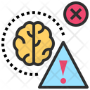 Risk Brain Error Icon