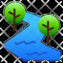 River Nature View Icon