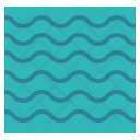 River Water Waterway Icon