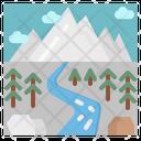 River Winter Snow Icon