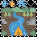 River Boat Lake Icon