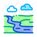 River Landscape Countryside Icon