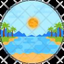 River Lakeside Nature Icon