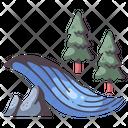 River Landscape Water Icon
