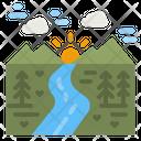 River Water Landscape Icon
