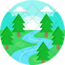 River Water Nature Icon