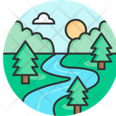 River Water Beautiful Icon