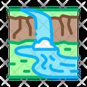 River Among Mountains Icon