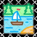 River Boat Icon