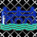 River Bridge Bridge Urban Icon
