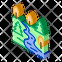 Mountain Forest Terrain Icon