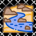 River Landscape Hills Icon