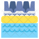 River Rapids Water Rafting Boating Icon
