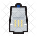 Rj Cable Connector Icon