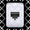 Rj  cable slot Icon