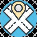 Road Location Exact Icon