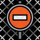 Road Sign City Icon