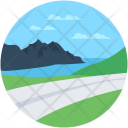Road Landforms Valley Icon
