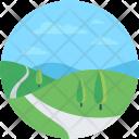 Road Landscape Cityscape Icon