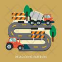 Road Construction Building Icon