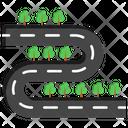 Route Road Path Icon