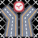 Road Route Track Icon
