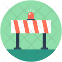 Road Barrier Construction Icon