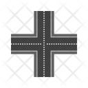 Linked Road Path Icon
