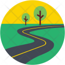 Road Route Highway Icon