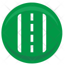 Road Track Sign Icon