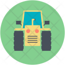 Road Roller Tractor Icon