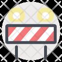Road Blocker Warning Icon