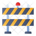 Road Barrier Road Blockade Construction Banner Icon