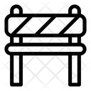 Road Block Road Barrier Stripped Icon