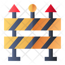Road Blockade Barrier Icon