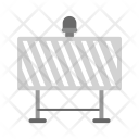 Road Sign Barrier Icon