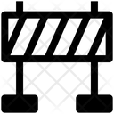 Road Barrier Police Barrier Security Check Icon