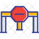 Road Block Barrier Closed Icon