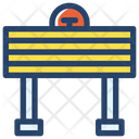 Road Block Project Worker Icon