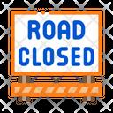 Road Closed Construction Icon