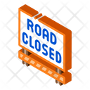 Road Closed Construction Icon