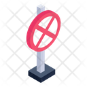 Road Closed Board Road Closed Sign Cross Sign Icon