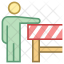 Road Construction Barrier Icon