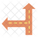 Road Direction Arrow Icon