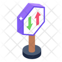 Road Directions Sign Arrows Board Sign Board Icon