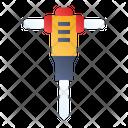 Road Drill Drilling Machine Icon