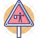 Road Flagger Flagger Road Icon