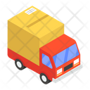 Road Freight Delivery Van Shipping Truck Icon