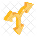 Road Intersect Arrows Icon